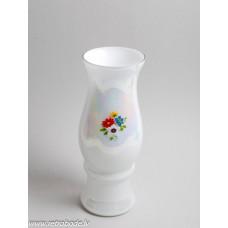 Puķu vāze, balts piena stikls