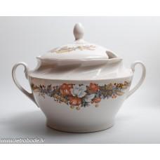 Porcelāna zupas trauks, terīne, RPR Rīgas porcelāns