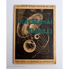 Grāmata Jaunais Zinātnieks Nr. 56, Valtera un Rapas apgāds 1938