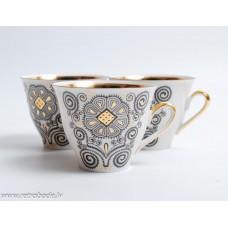 Komplekts 3 gab. Porcelāna kafijas tases, servīze Marianna
