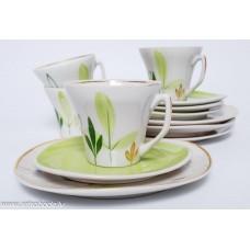 """4. gab. Porcelāna kafijas tases un apakštases, """"Stella"""", PFF, Rīgas porcelāns"""