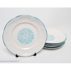 Komplekts 6 gab. porcelāna šķīvji, PFF