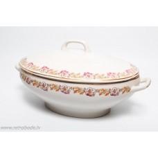 Porcelāna zupas trauks, terīne, PFF Rīgas porcelāns