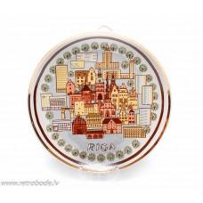 Porcelāna dekorativais sienas šķīvis, Rīga