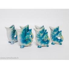 6 gab. Porcelāna glāzes zivs formā