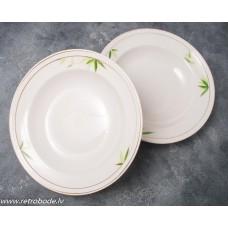 2 gab. Porcelāna zupas šķīvji, RPF, Rīgas porcelāns
