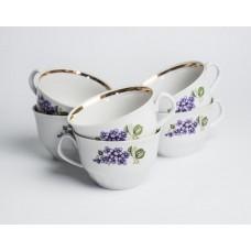 """Komplekts 6 gab. porcelāna tases no servīzes """"Māra"""""""