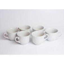 Komplekts 6 gab. Porcelāna tases, baltās, RPR