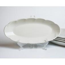 Komplekts 5. gab. Porcelāna ovāls šķīvis,  RPR