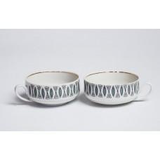 """Komplekts 2 gab. Porcelāna kafijas tases no servīzes """"Saulīte"""", PFF"""