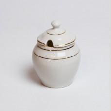 Porcelāna garšvielu vai mērces trauks ar vāku, RPF