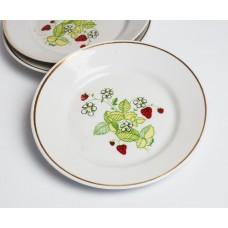 Komplekts 3 gab. Porcelāna deserta šķīvji, RPR