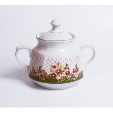 Porcelāna cukurtrauks no servīzes Karīna, Rīgas porcelāns