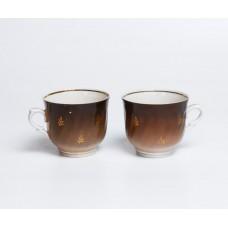 Komplekts 2 gab. Porcelāna tases no kafijas servīzes Duets, RPR