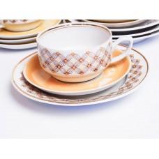 Porcelāna kafijas servīze Aija-2, nepilna, tases, apakštases, RPR