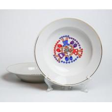 2 gab. Bērnu porcelāna zupas šķīvji, RPR