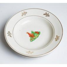 2 gab. Bērnu porcelāna zupas šķīvis, PFF