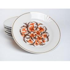 Komplekts 7 gab. Porcelāna deserta šķīvji, RPR