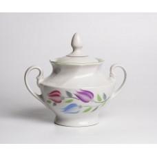 Porcelāna cukurtrauks, Rīgas porcelāns, no servīzes Viktorija, apgleznojums