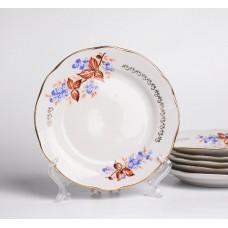 Komplekts 6 gab. Porcelāna deserta šķīvji, RPR