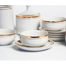 """Porcelāna kafijas servīze nepilna, """"Saulīte"""" tases, apakštases, krējuma trauks, cukurtrauks"""