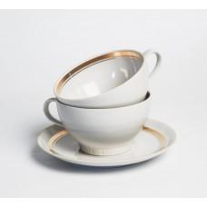 Porcelāna tējas tases un apakštase, Regīna, PFF
