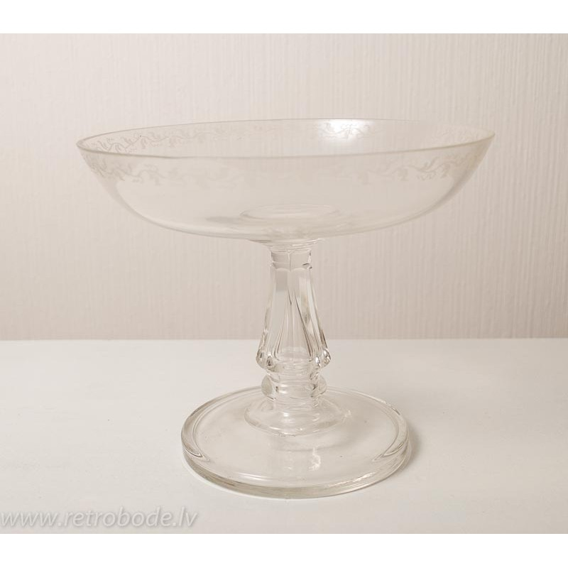 Antique Clear Glass Vase Beginning Of 20th Century