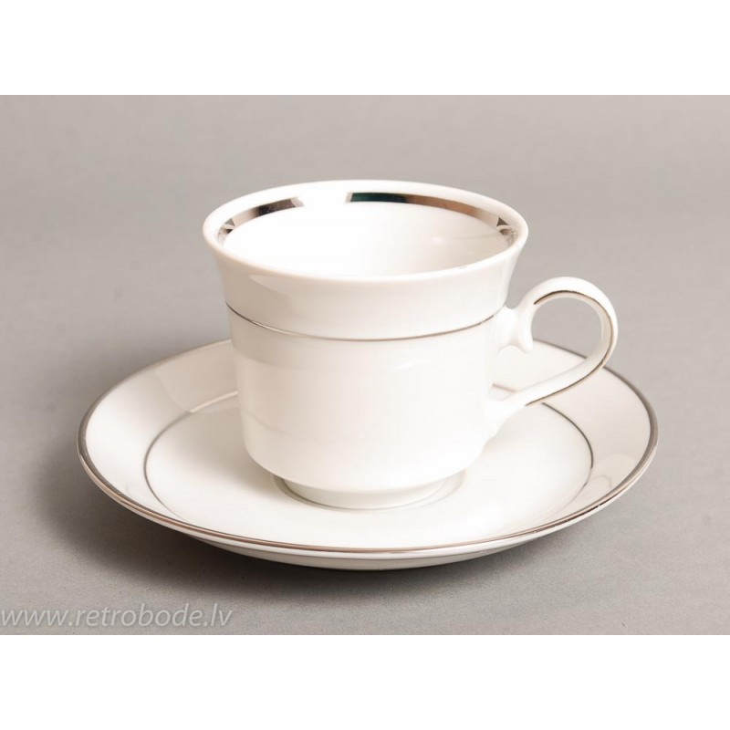 vintage porcelain tea or coffee cup and plate winterling