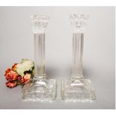 2 gab. Senlaicīgi stikla svečturi