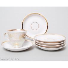 Komplekts 6 gab. Porcelāna apakštases no kafijas servīzes Marianna