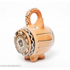 Dekoratīva keramikas vīna muca