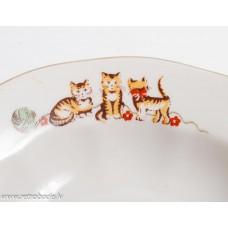 Bērnu porcelāna zupas šķīvis, RPR