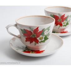 2 gab. Porcelāna tējas krūze un apakštase, Jessen Rīga, 1990-e gadi