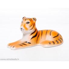 Antikvāra porcelāna figūriņa, tīģeris, RPR Rīgas porcelāna rūpnīca