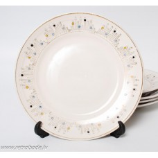 Komplekts 5 gab. Porcelāna deserta šķīvji