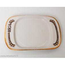 Porcelāna šķīvis, paliktnis, RPR, Rīgas porcelāns