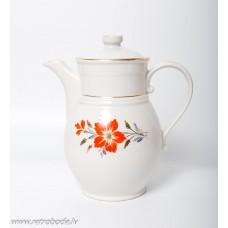 """Porcelāna kafijas kanna, no servīzes """"Tauta"""" PFF, Rīgas porcelāns"""