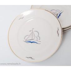 Komplekts 3 gab. Bērnu porcelāna zupas šķīvji, PFF