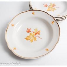 Komplekts 5 gab. Porcelāna zupas šķīvis, Dulevo