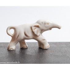 Antikvāra porcelāna figūriņa, Zilonis, RFF Rīgas porcelāna un fajansa fabrika