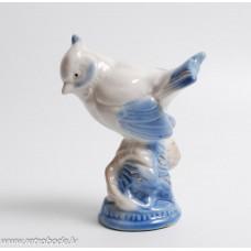 Porcelāna figūriņa, putns, zīlīte, Gžeļ