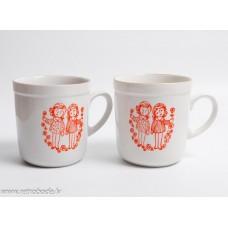 Komplekts 2 gab. Bērnu porcelāna tējas krūzes, RPR, Rīgas porcelāns