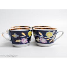 Porcelāna tējas servīze 4 personām, Poloņas mākslas keramikas fabrika
