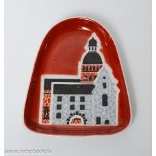 Porcelāna šķīvis, paliktnis, Vecrīga, RPR, Rīgas porcelāns