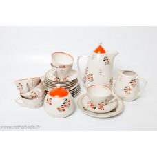 """Porcelāna kafijas servīze 6 personam, """"Ausma"""""""