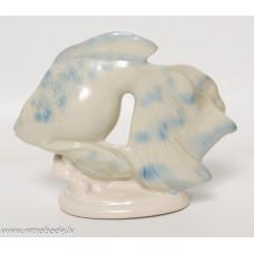 Antikvāra porcelāna figūriņa, Zivs, PFF Rīgas porcelāna un fajansa fabrika