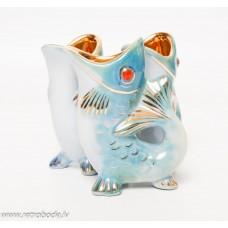 3 gab. Porcelāna glāzes zivs formā