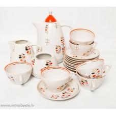 """Porcelāna kafijas servīze """"Ausma"""" nepilna"""