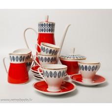 Porcelna kafijas servize 6 personam, Freiberger Porzellan, Vācija