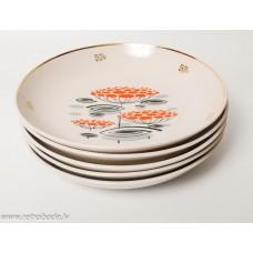 Komplekts 5 gab. Porcelāna šķīvis, PFF, Rīgas porcelāns